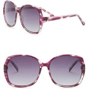 Joe's Jeans Women's Oversized Polarized 58mm Sunglasses