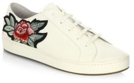 Joie Flower Leather Sneakers