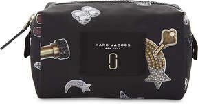 Marc Jacobs Large printed nylon cosmetics bag