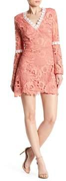 Alexia Admor Ruffled Long Sleeve Lace Dress