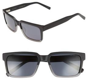 Ted Baker Men's 56Mm Polarized Rectangular Sunglasses - Black