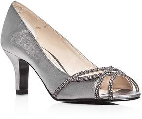 Caparros Eliza Metallic Embellished Pumps
