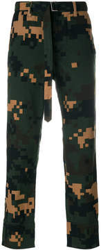 Sacai Pixelated camouflage trousers