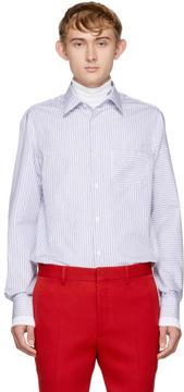 Calvin Klein White Thin Stripe Shirt