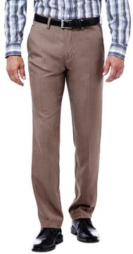 Haggar Men's Slim-Fit Performance Microfiber Flat-Front Slacks