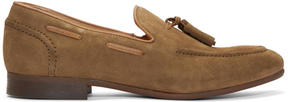 H By Hudson Tan Suede Pierre Loafers