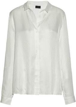 RtA Silk Satin-Jacquard Shirt