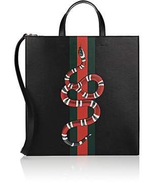 Gucci Men's Kingsnake-Print Tote Bag