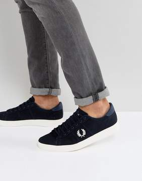 Fred Perry Spencer Canvas Sneakers in Navy