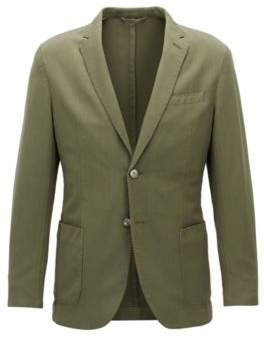 BOSS Hugo Wool Sport Coat, Slim Fit Hanry D 36S Open Green