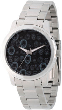 Marvel Comics Mens Silver Tone Strap Watch-Wma000059