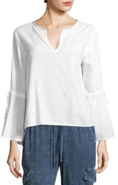 Bella Dahl Tie Bell-Sleeve Top
