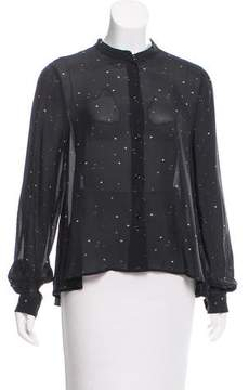 Band Of Outsiders Sheer Button-Up