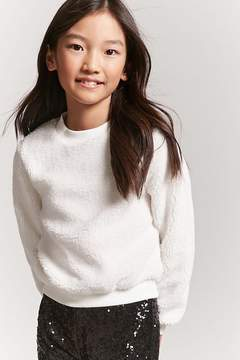 Forever 21 Girls Faux Shearling Sweatshirt (Kids)