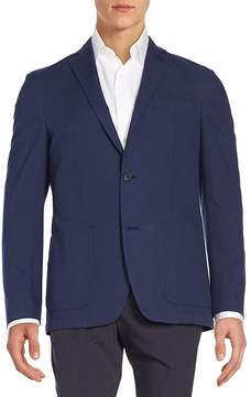 Saks Fifth Avenue BLACK Men's Regular-Fit Cotton Blazer