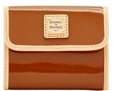Dooney & Bourke Patent Small Flap Wallet - TAN - STYLE