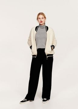 Violeta BY MANGO Contrasted finishings faux-shearling bomber