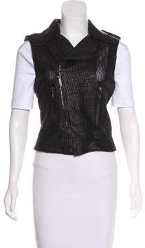 RtA Denim Perforated Leather Vest