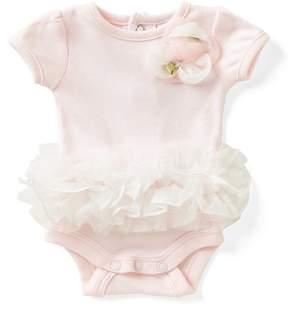 Edgehill Collection Baby Girls Preemie Rosette Tutu-Skirt Bodysuit