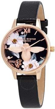 Olivia Burton Bejewelled Florals Black Dial Ladies Watch