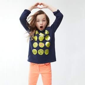 J.Crew Girls' long-sleeve emoji T-shirt