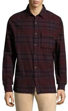 Joe's Jeans Bellowed Plaid Long-Sleeve Cotton Shirt