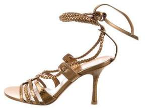 Christian Dior Metallic Leather Sandals