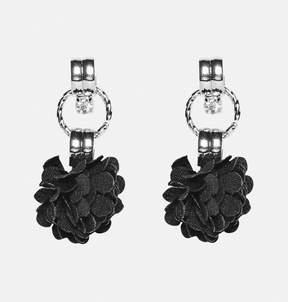 Avenue Fabric Flower Drop Earrings