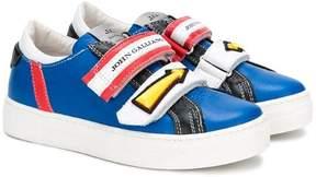 John Galliano logo arrow touch strap sneakers
