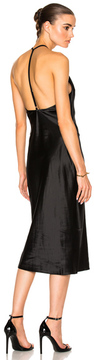 Fleur Du Mal Cowl Neck Bias Slip Dress in Black.