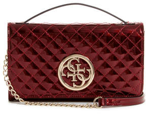GUESS Quattro G Patent Crossbody Wallet