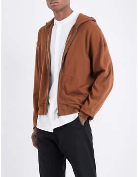 Haider Ackermann Metallic-embroidered cotton-jersey hoody