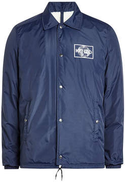 Kenzo Fabric Jacket with Faux Shearling Lining