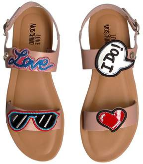 Love Moschino Sandals w/ Patches Women's Shoes