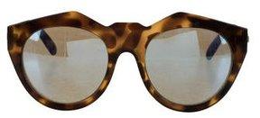 Le Specs Oversize Round Sunglasses