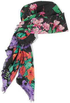 Gucci - Printed Silk-twill Scarf - Black