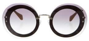 Miu Miu Round Oversize Sunglasses w/ Tags