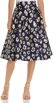 Eliza J Pleated Floral Print Skirt