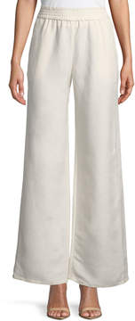 Joan Vass Linen-Blend Wide-Leg Pants