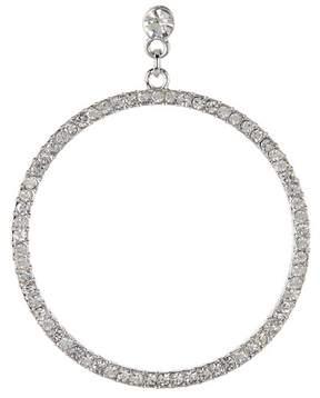 BaubleBar Pave Crystal Front Facing Hoop Drop Earrings