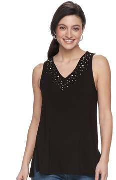 Apt. 9 Women's Strappy Embellished Tank
