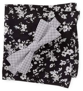Original Penguin Graebner Check Pre-Tied Bow Tie & Floral Print Pocket Square Box Set