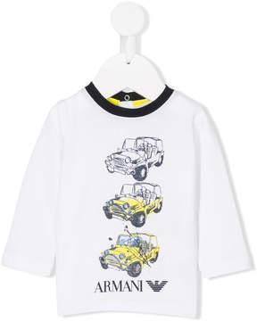 Emporio Armani Kids car print T-shirt