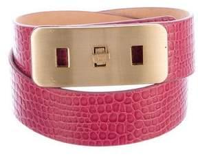 Diane von Furstenberg Embossed Leather Waist Belt