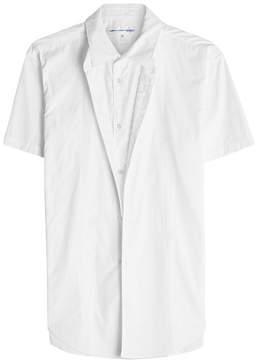Comme des Garcons Layered Cotton Short-Sleeve Shirt
