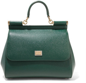 Dolce & Gabbana - Sicily Medium Textured-leather Tote - Emerald