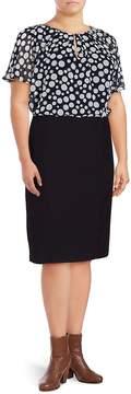 Basler Women's Marine Polka-Dot Blouson Dress