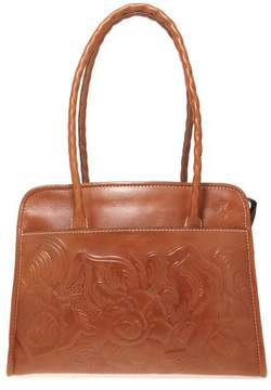 Patricia Nash Paris Tooled Leather Large Satchel