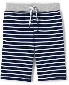 Lands' End Lands'end Boys Husky Stripe Sweat Shorts