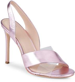 Pour La Victoire Women's Elly Metallic Leather & PVC Slingback Sandals